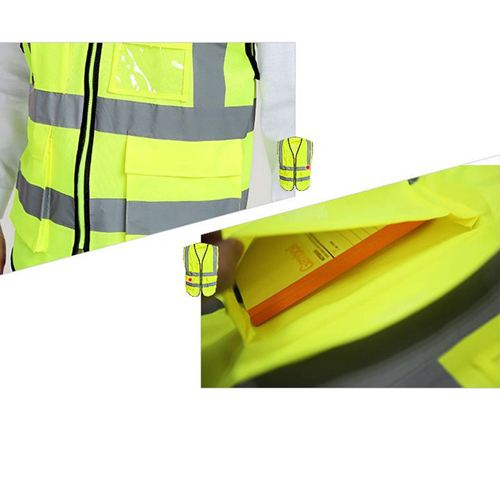 Building Construction High Visibility Safety Vest Image 5