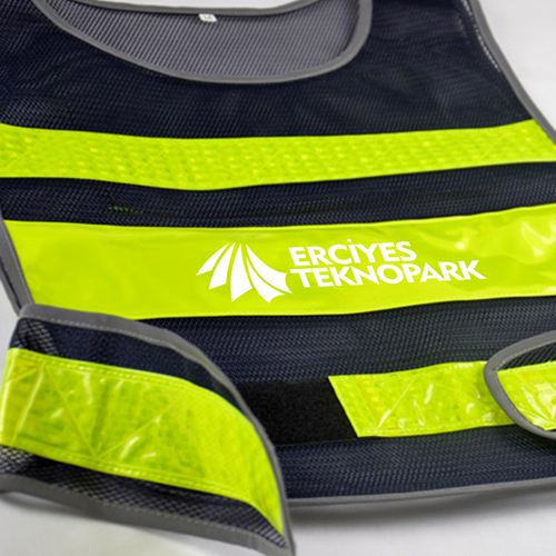 Working Running Reflective Stripes Safety Vest Image 4