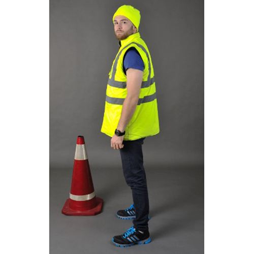 Cotton Padded Winter Outdoor Safety Vest Image 1