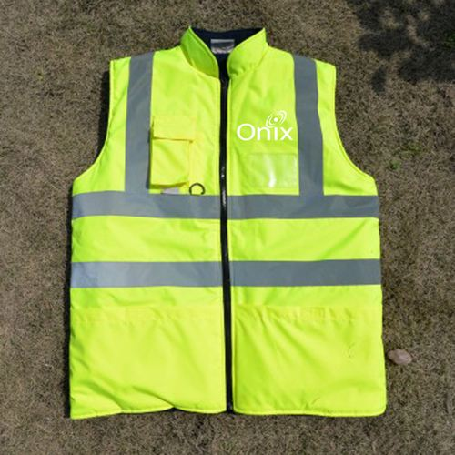 Cotton Padded Winter Outdoor Safety Vest Image 2