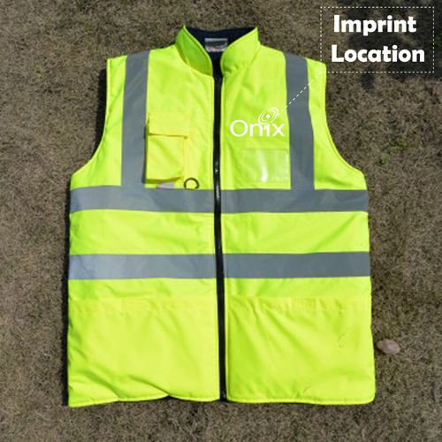 Cotton Padded Winter Outdoor Safety Vest Imprint Image