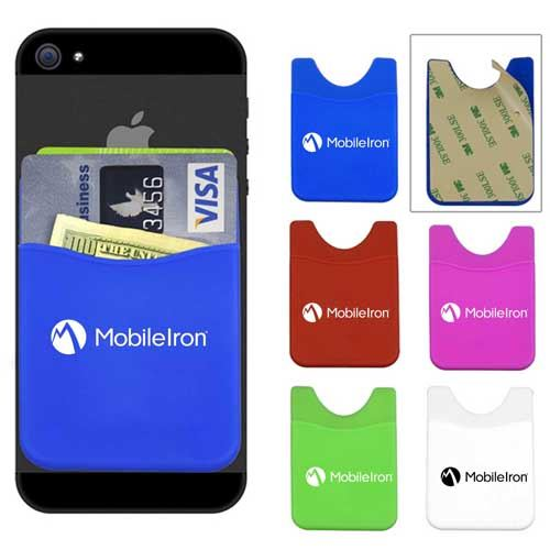 Promotional Smartphone Silicone Card Wallet Image 1
