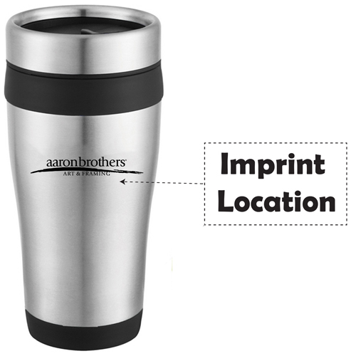 16 Oz Stainless Steel Custom Travel Tumbler Imprint Image