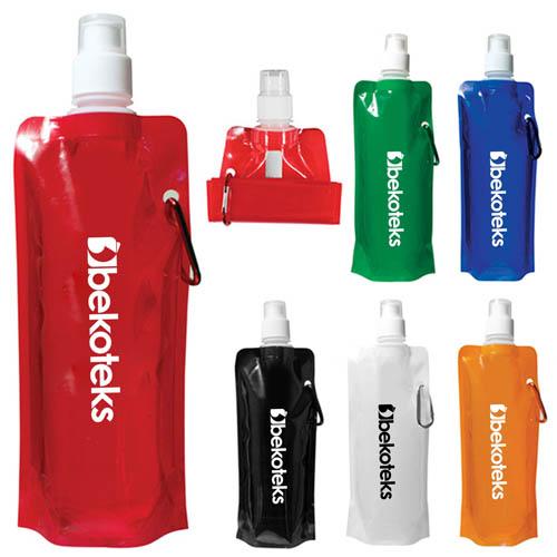 16 Oz Folding Roll-Up Water Bottle