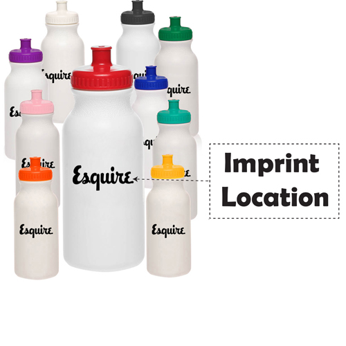 Push Cap 20 Oz Water Bottle Imprint Image