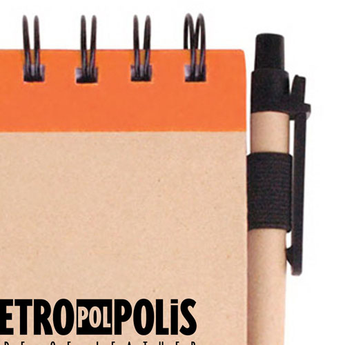 Spiral Bound Kraft Jotter With Pen Image 3