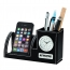 Excutive Leather Pen & Phone Holder Clock