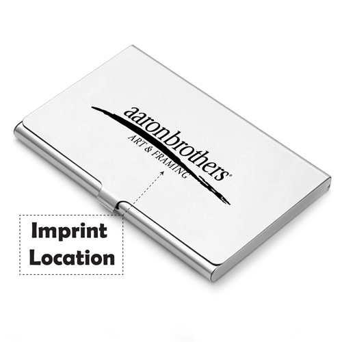 Aluminum Business Card Holder Imprint Image