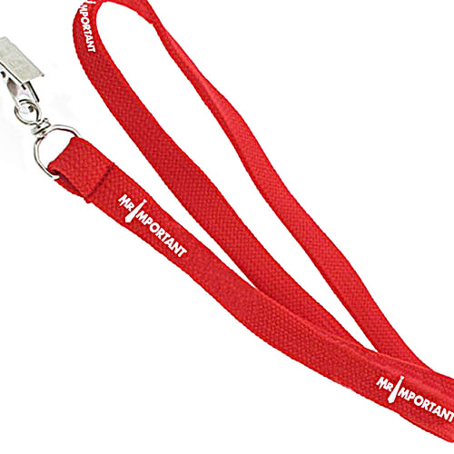 1cm Width Lanyard With Bulldog Clip Image 1