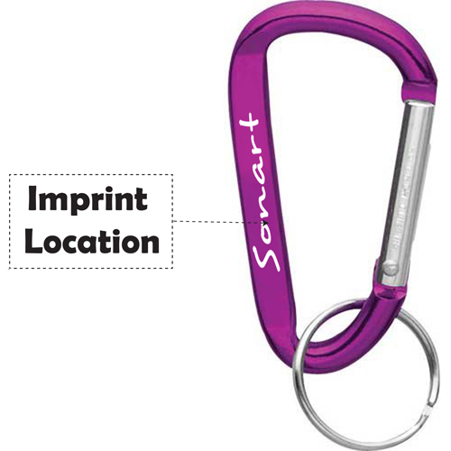Aluminum Carabiner With Split Key Ring