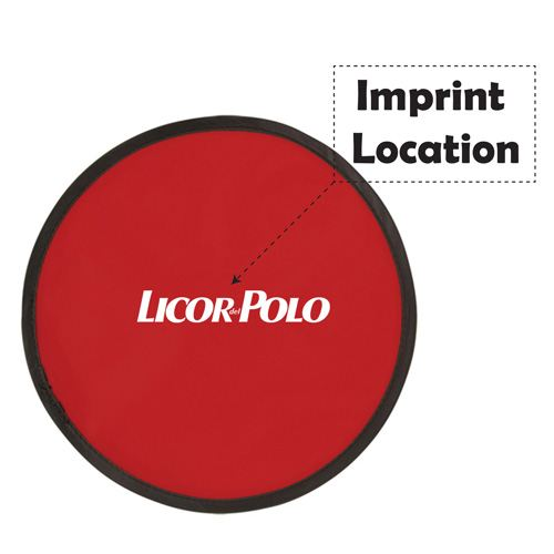 Flying 10 Inch Frisbee Disk With Pouch Imprint Image