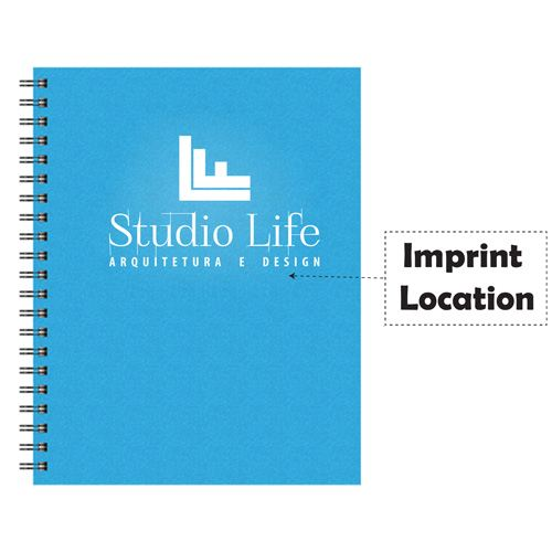 Large Wire Bound Notebooks Imprint Image