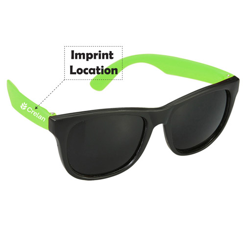 Personalized Two Tone Cool Sunglasses Imprint Image