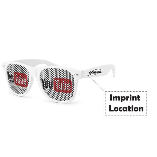 Pinhole Wayfarer Sunglasses Imprint Image