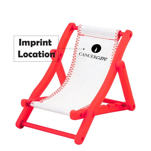 Beach Chair Cell Phone Holder Imprint Image