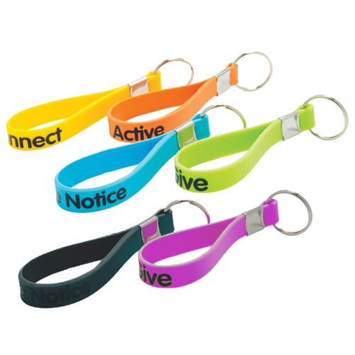 Silicon Keychain Wristband Loops