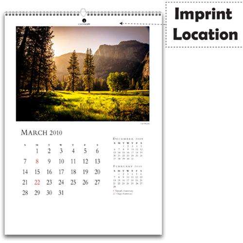 Economy Wall Smart Calendar Imprint Image
