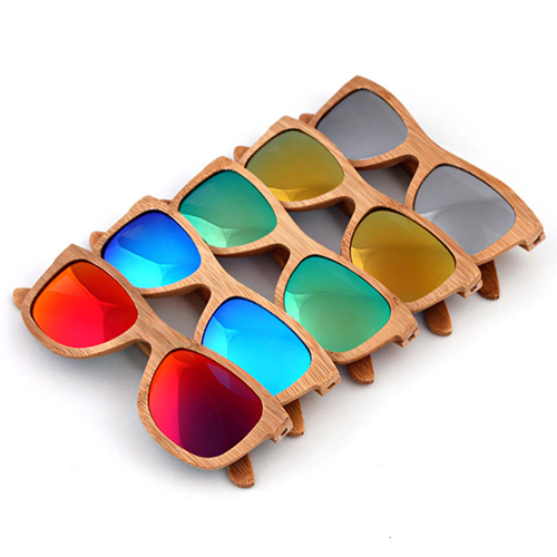Laminated wood Vintage Sunglasses Image 4