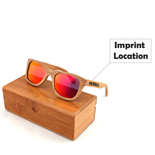 Laminated wood Vintage Sunglasses Imprint Image