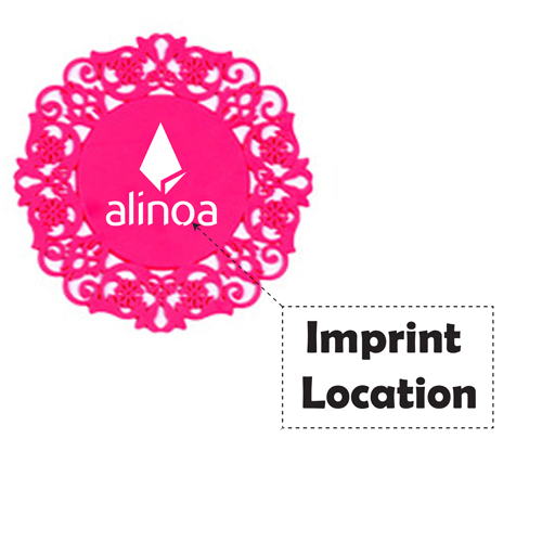 Lace Silicone Coaster Insulation Pad Imprint Image