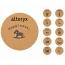 Round Wood Cork Coaster
