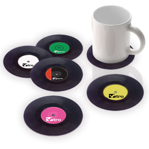 Retro Vinyl Record Coaster