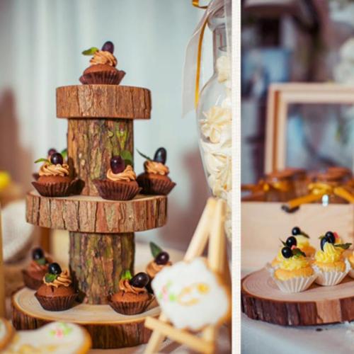 Wood Slice 6 Coasters Image 2