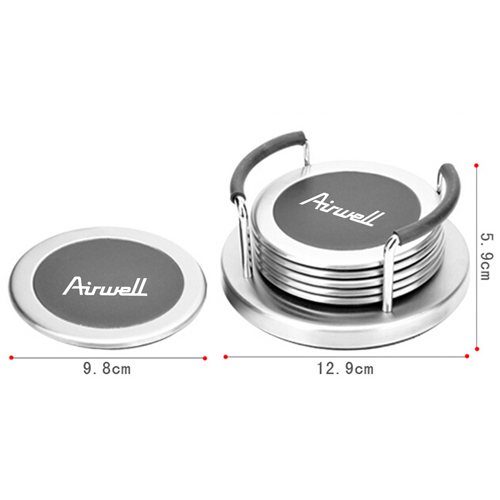 Round 6 Insulation Coaster With Holder Image 4