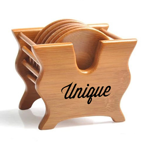 Bamboo Tea Coasters With Holder