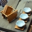 Bamboo Tea Coasters With Holder Image 3