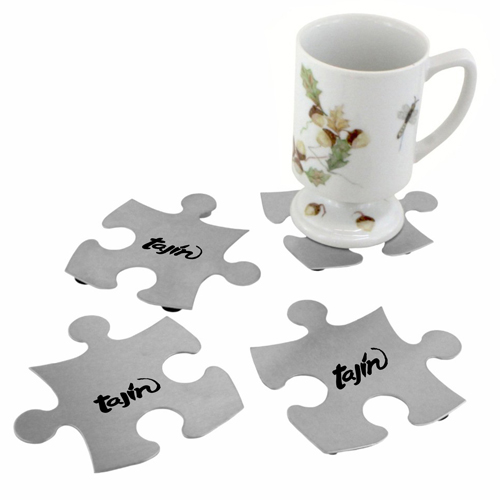 Stainless Steel Jigsaw Puzzle Coasters