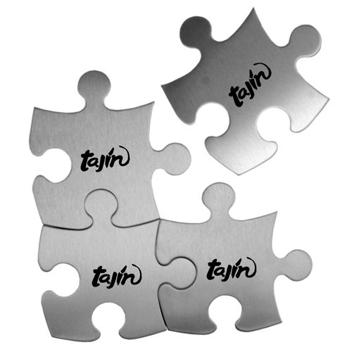 Stainless Steel Jigsaw Puzzle Coasters Image 1