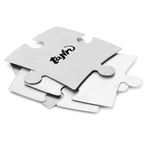 Stainless Steel Jigsaw Puzzle Coasters Image 2