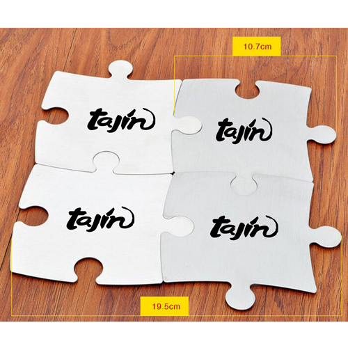 Stainless Steel Jigsaw Puzzle Coasters Image 4