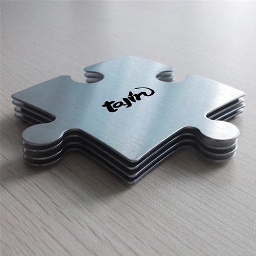 Stainless Steel Jigsaw Puzzle Coasters Image 5