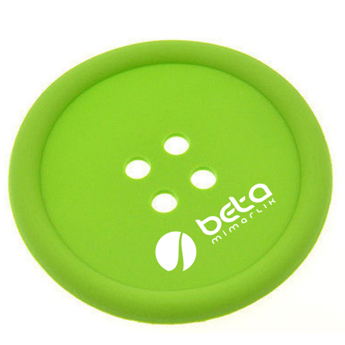 Button Shape Silicone Coasters