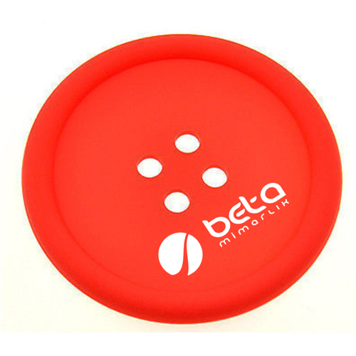 Button Shape Silicone Coasters Image 2