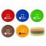 Button Shape Silicone Coasters Image 5