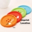 Button Shape Silicone Coasters Imprint Image