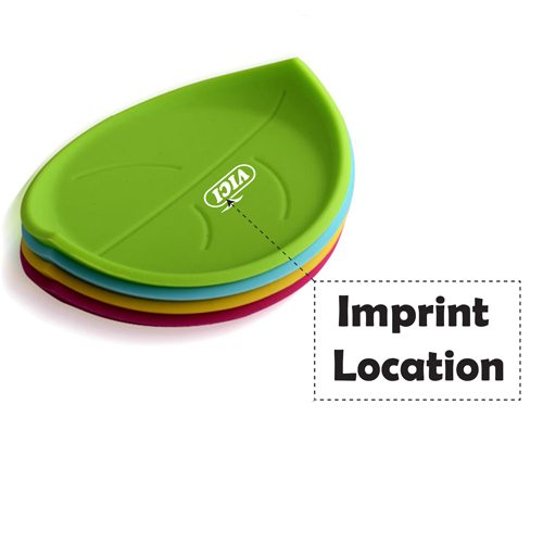 Leaf Silicone Coasters Imprint Image