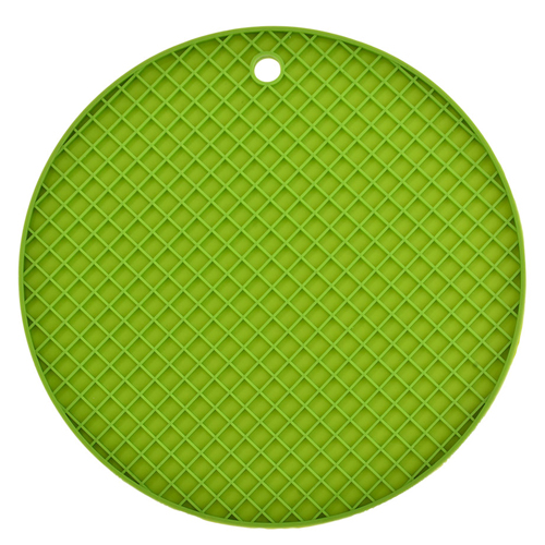 Round Plaid Silicone Coasters Image 1