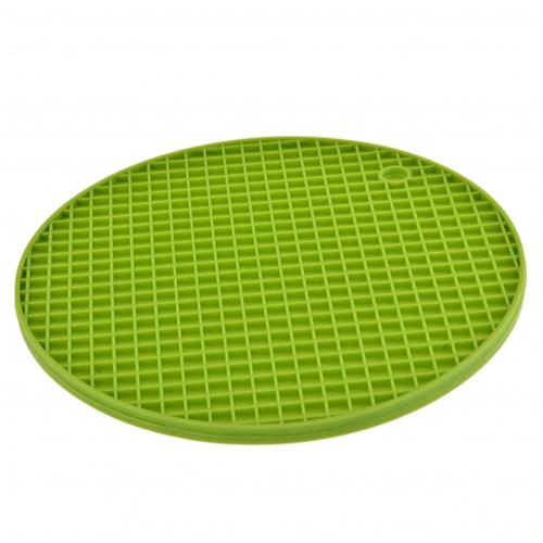 Round Plaid Silicone Coasters Image 2