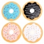 Round Donut Shaped Coaster Image 1
