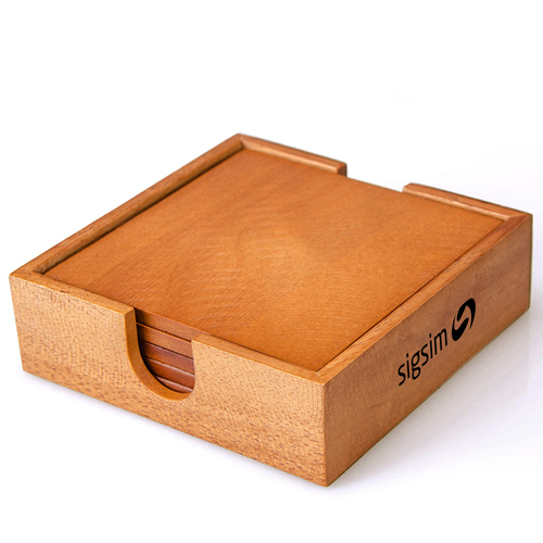 Wooden 5 In 1 Square Coaster Image 4
