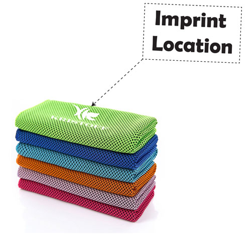 Reusable Heat Relief Ice Towel Imprint Image