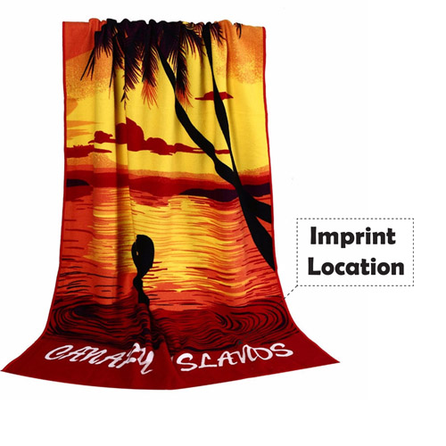 Cotton Beach Gym Towel Imprint Image