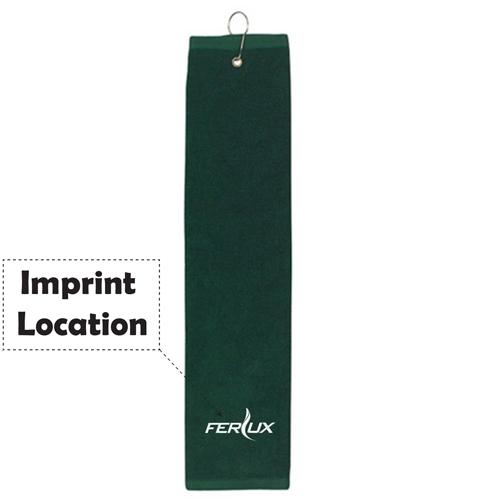 Tri Fold Towel for Golf Imprint Image