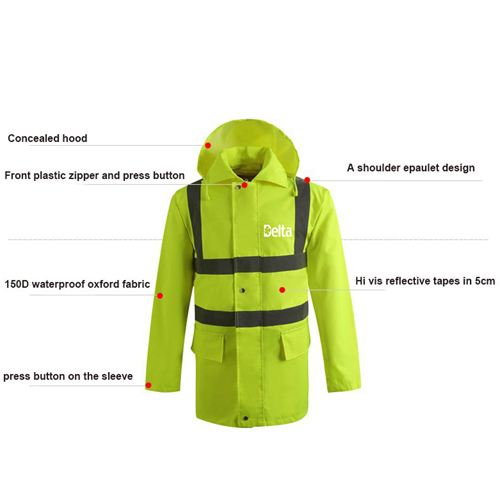 High Visibility Waterproof Rain Wear Image 3