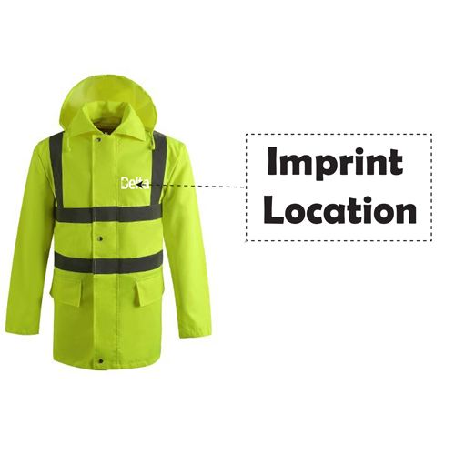 High Visibility Waterproof Rain Wear Imprint Image
