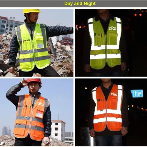 Dark Night Working Reflective Safety Vest Image 1